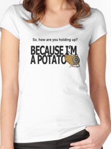 Potato GladOS Women's Fitted Scoop T-Shirt