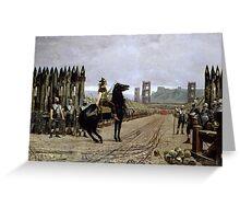Motte, Henri Paul - Vercingetorix before Caesar. 52 BC Greeting Card