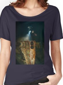 Diver at the MS Zenobia shipwreck. Women's Relaxed Fit T-Shirt