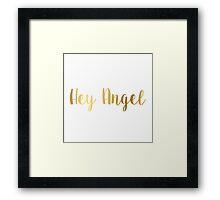 Hey Angel One Direction Framed Print