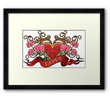 Heart in roses with thorns  Framed Print