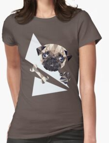 Cute Pug Womens Fitted T-Shirt