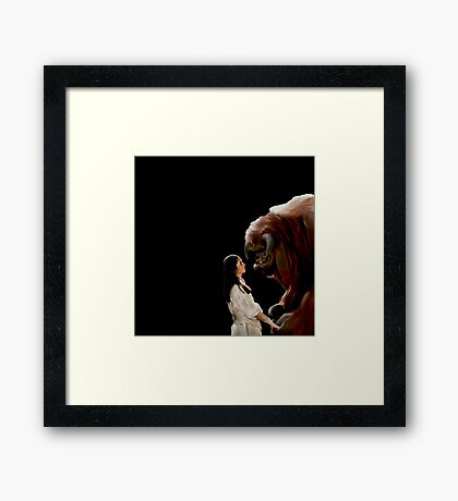 Ludo and Sarah - Labyrinth - Painting Framed Print