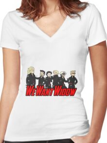 We Want Widow Women's Fitted V-Neck T-Shirt