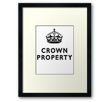 CROWN PROPERTY, THE QUEENS, BRITISH, UK, PRISON, ENGLAND Framed Print