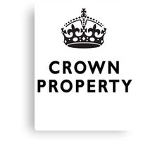 CROWN PROPERTY, THE QUEENS, BRITISH, UK, PRISON, ENGLAND Canvas Print