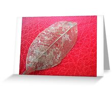 Veins on Red Greeting Card