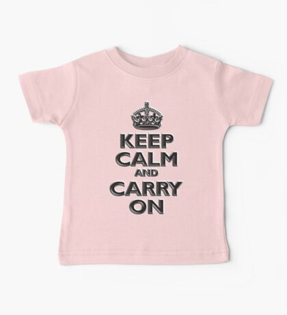 KEEP CALM, Keep Calm & Carry On, British, UK, Britain, Blighty, Chisel on Red Baby Tee