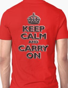 Keep Calm & Carry On, British, UK, Britain, Blighty, Chisel on Red T-Shirt