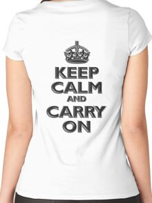 Keep Calm & Carry On, Be British! (Chisel), UK, WW2, WWII, Propaganda Women's Fitted Scoop T-Shirt