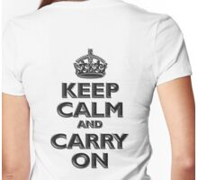 Keep Calm & Carry On, Be British! (Chisel), UK, WW2, WWII, Propaganda Womens Fitted T-Shirt