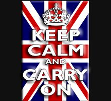 Keep Calm, & Carry On, Union Jack, Flag, Blighty, UK, Be British! T-Shirt