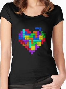 THE GAME OF LOVE ( Dark Version ) Women's Fitted Scoop T-Shirt