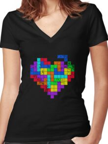 THE GAME OF LOVE ( Dark Version ) Women's Fitted V-Neck T-Shirt