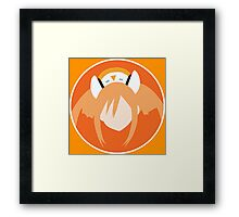 4 Goddesses V HDD - Orange Framed Print