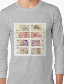 Obsolete Israeli bank notes 50 and 100 Old Shekel  Long Sleeve T-Shirt