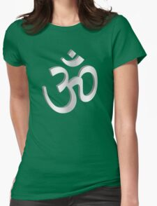Yoga Symbol OM Womens Fitted T-Shirt