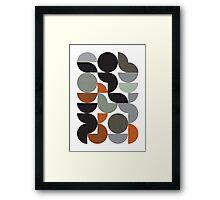 Circular organic Framed Print
