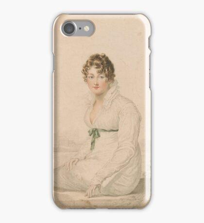 William Blake Portrait of Mrs. Q (Mrs. Harriet Quentin) 1820 iPhone Case/Skin