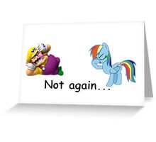 Wario and Rainbow Dash Greeting Card