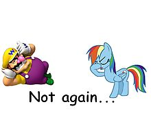 Wario and Rainbow Dash Photographic Print