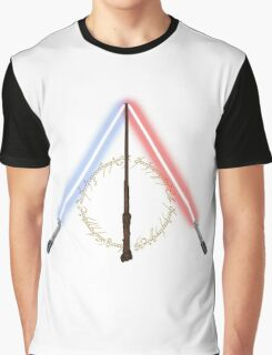 Fantasy Hallows (White Version) Graphic T-Shirt