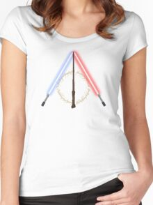 Fantasy Hallows (White Version) Women's Fitted Scoop T-Shirt