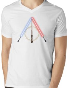 Fantasy Hallows (White Version) Mens V-Neck T-Shirt