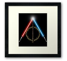 Fantasy Hallows (Black Version) Framed Print