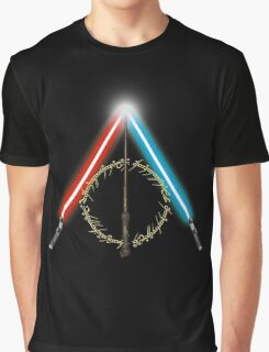 Fantasy Hallows (Black Version) Graphic T-Shirt