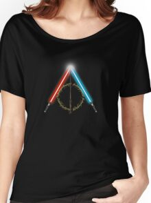 Fantasy Hallows (Black Version) Women's Relaxed Fit T-Shirt