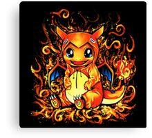 Pikachu Charizard Canvas Print