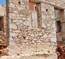 Derelict building, Halki Sticker