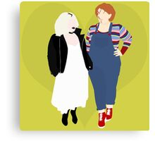 Plus Size Chucky and Bride of Chucky Canvas Print