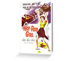 classic movie : hot rod girl Greeting Card
