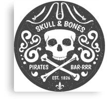 Skull Badge Canvas Print