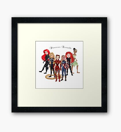 Princesses Assemble  Framed Print