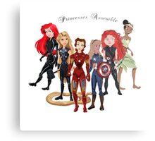 Princesses Assemble  Metal Print