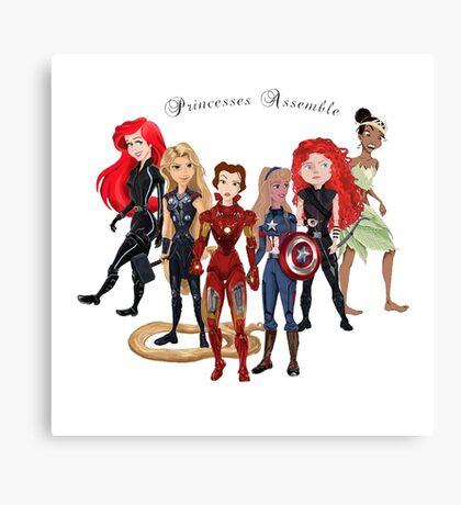 Princesses Assemble  Canvas Print