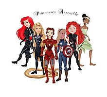 Princesses Assemble  Photographic Print