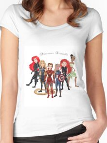 Princesses Assemble  Women's Fitted Scoop T-Shirt