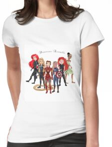 Princesses Assemble  Womens Fitted T-Shirt