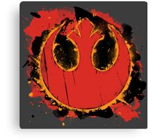 Rebel Splash Canvas Print