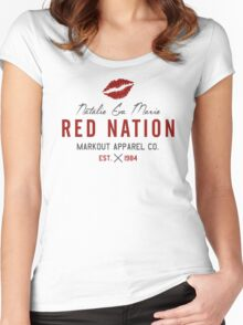 RED NATION Women's Fitted Scoop T-Shirt