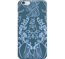 Piranha Damask - Blue iPhone Case/Skin