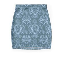 Piranha Damask - Blue Mini Skirt