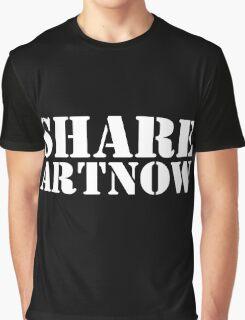 SHARE ART NOW dark background - m a longbottom - platform58 Graphic T-Shirt