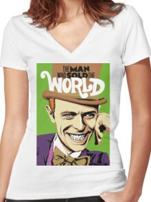 The Man Who Sold The World Women's Fitted V-Neck T-Shirt