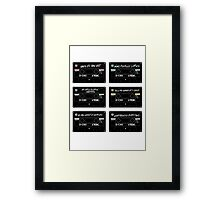 Emptiness Part Two Framed Print