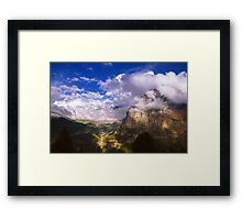 Fine Evening in the Alps Framed Print